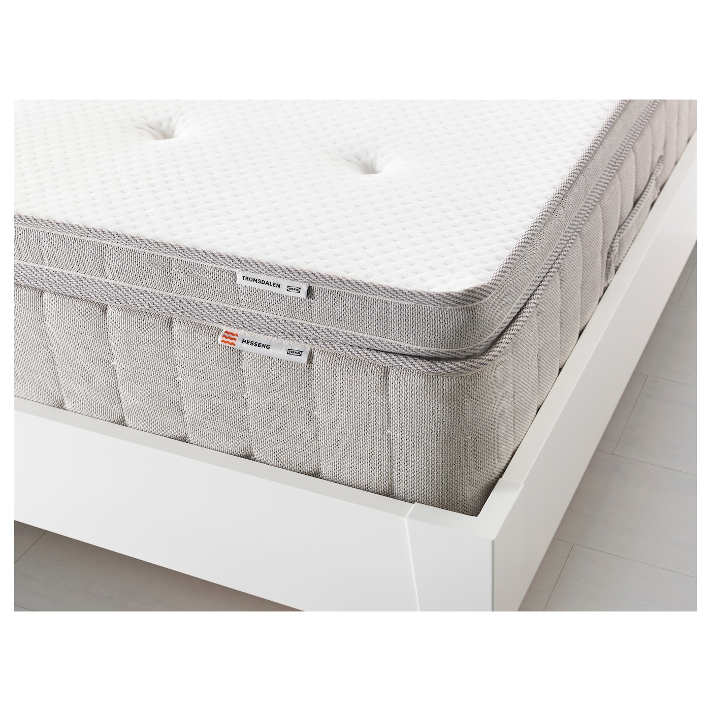 TROMSDALEN Mattress topper Natural colour Standard Double