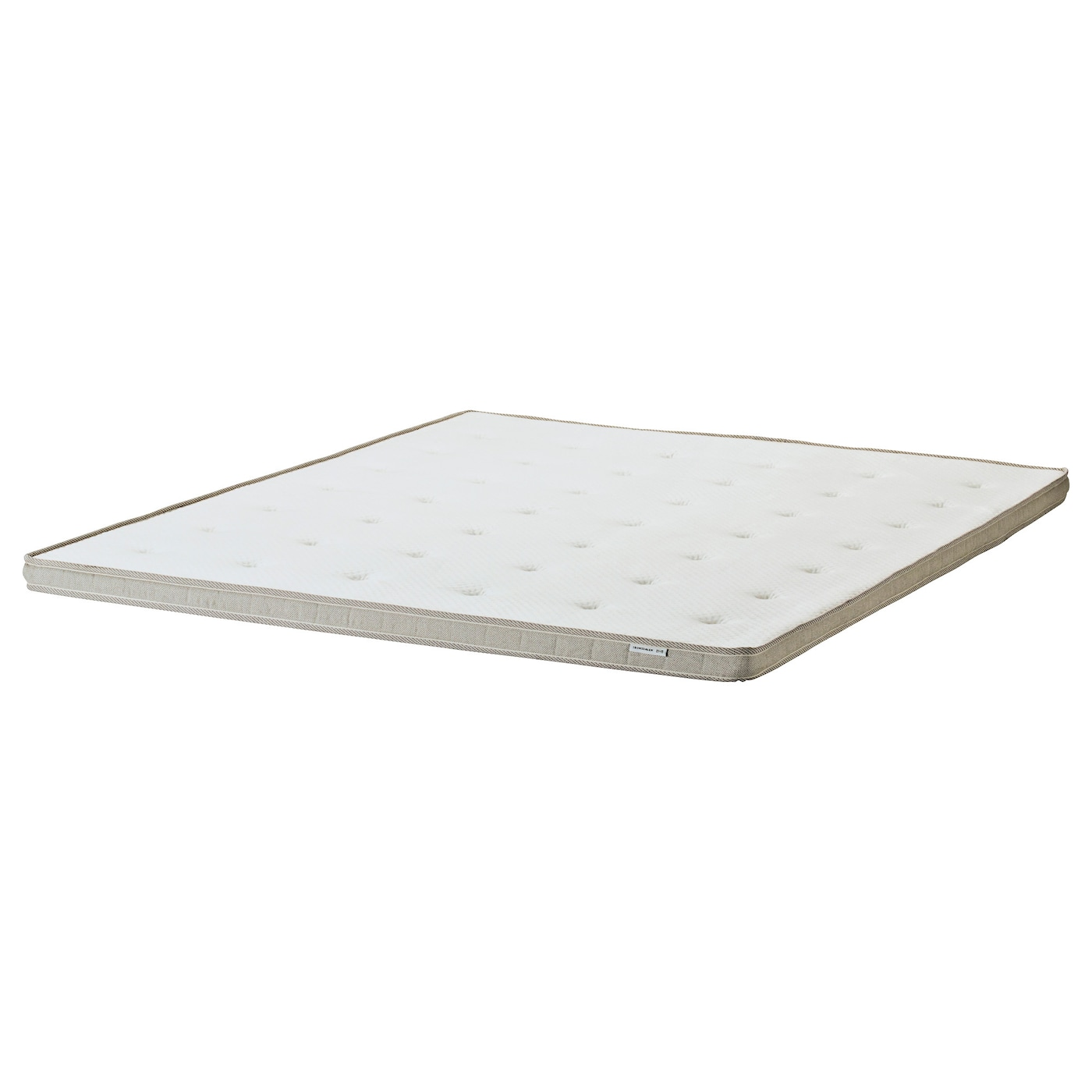 IKEA TROMSDALEN mattress topper Stretch fabric follows the contours of your body as you move in bed.