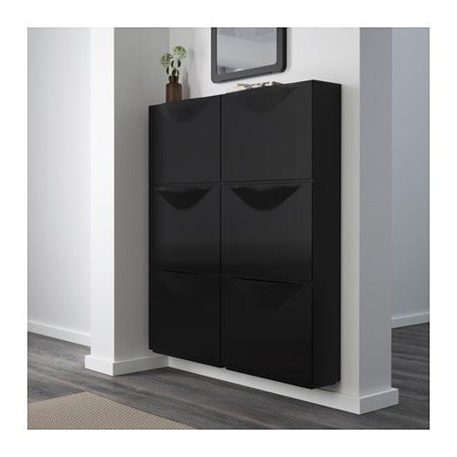 TRONES Shoe cabinet storage Black 51×39 cm IKEA