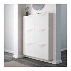 Trones shoe cabinet storage white 51x39 cm ikea for Meuble a chaussure mural ikea