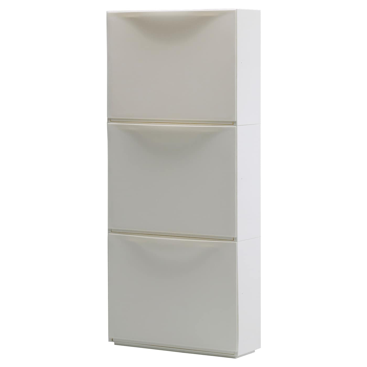 Trones shoe cabinet storage white 51 x 39 cm ikea for Mueble zapatero plastico