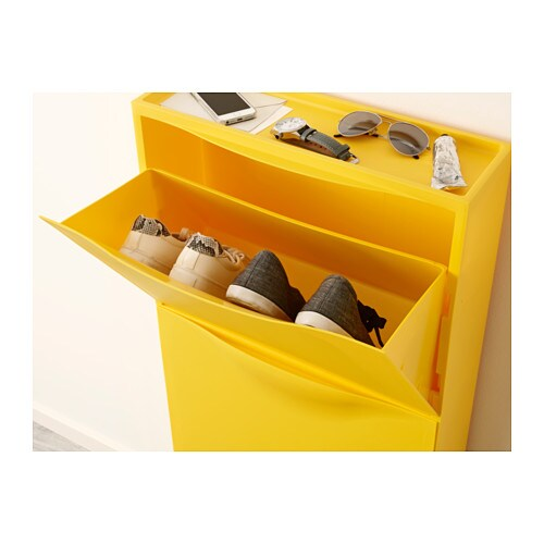 trones shoe cabinet storage yellow 51x39 cm ikea. Black Bedroom Furniture Sets. Home Design Ideas
