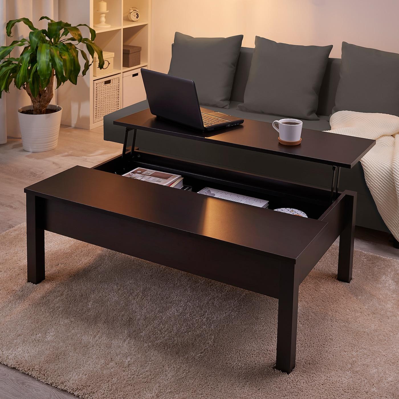 Trulstorp Black Brown Coffee Table 115x70 Cm Ikea