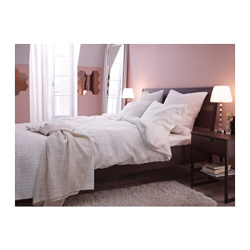 Ikea Orgel Vreten Floor Lamp Natural Steel ~ IKEA TRYSIL bed frame The angled headboard allows you to sit