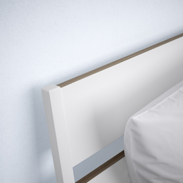 TRYSIL Bed frame, white/Luröy, Standard Double