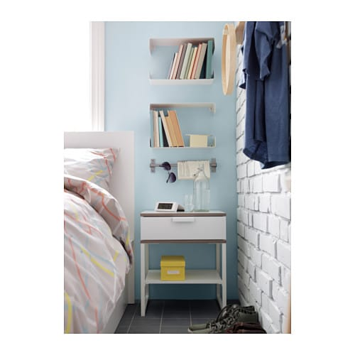 Ikea Etagere Murale Zig Zag ~ Bedside table TRYSIL White light grey