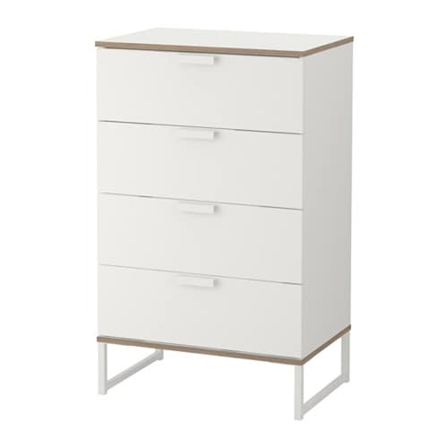 trysil chest of 4 drawers white light grey 60x99 cm ikea. Black Bedroom Furniture Sets. Home Design Ideas