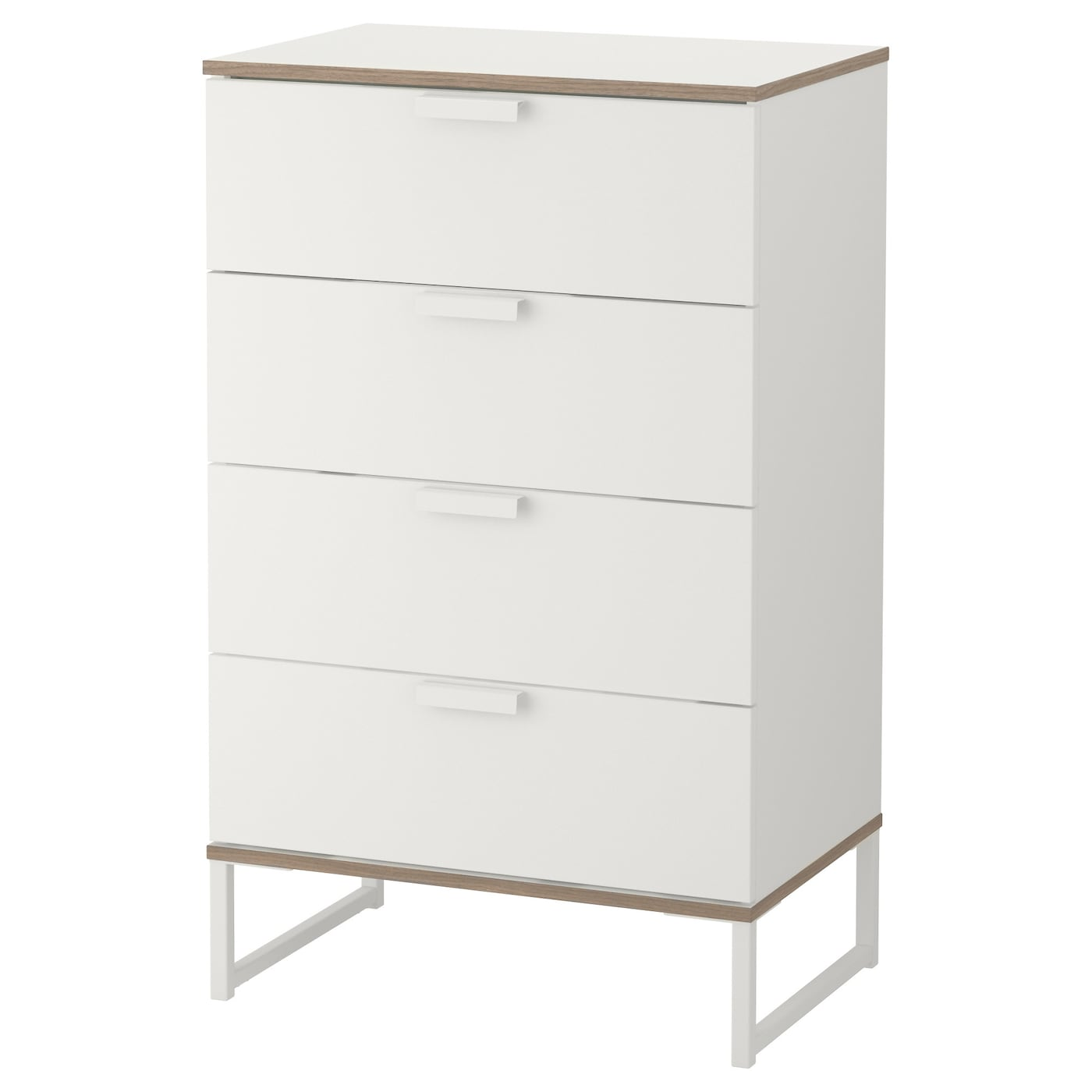 IKEA TRYSIL chest of 4 drawers Smooth running drawers with pull-out stop.