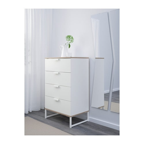 IKEA TRYSIL chest of 4 drawers Smooth running drawers with pull out  ~ Trysil Ikea Chest Of Drawers