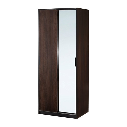 IKEA TRYSIL wardrobe You save space with a mirror door, because you don't need a separate mirror.