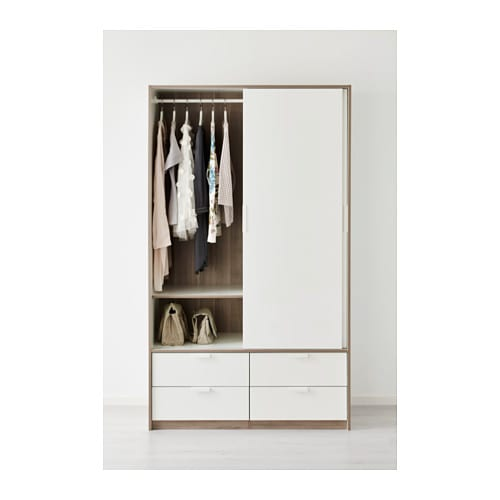 Ikea Schreibtisch Jonas Neupreis ~ IKEA TRYSIL wardrobe w sliding doors 4 drawers Smooth running drawers