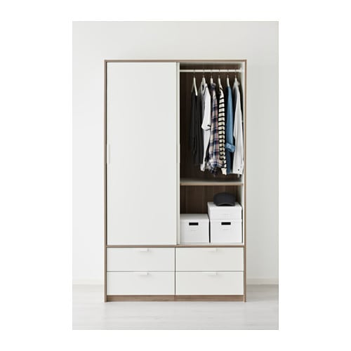 Ikea Schreibtisch Expedit Mit Regal ~ IKEA TRYSIL wardrobe w sliding doors 4 drawers Smooth running drawers