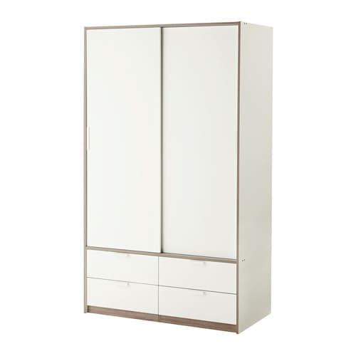 Ikea Schreibtisch Expedit Mit Regal ~ TRYSIL Wardrobe w sliding doors 4 drawers IKEA Sliding doors allow