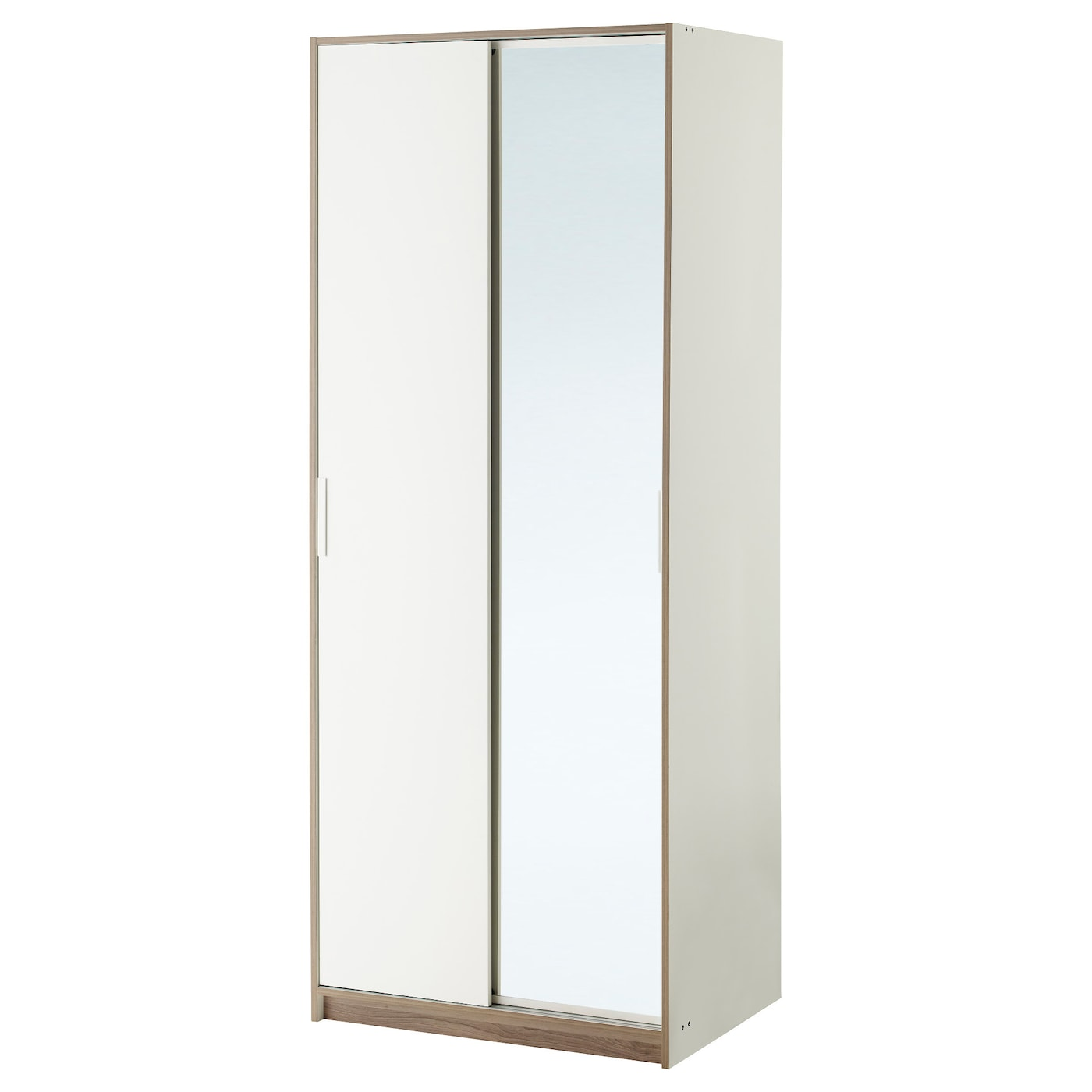 trysil wardrobe white mirror glass 79x61x202 cm ikea. Black Bedroom Furniture Sets. Home Design Ideas