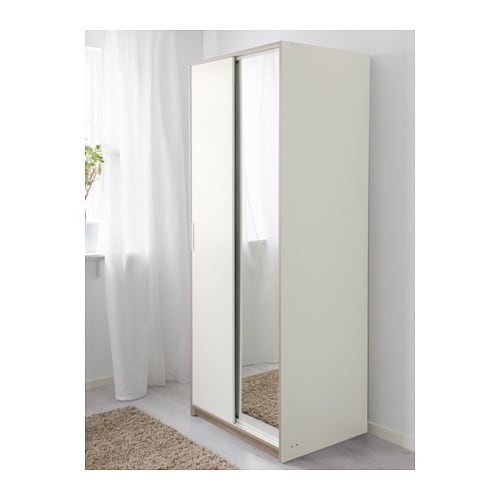 Ikea trysil wardrobe white usa - Ikea armoire with mirror ...