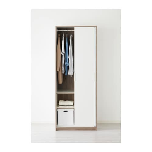 Ikea Trysil Wardrobe Problems ~ Wardrobe TRYSIL White mirror glass