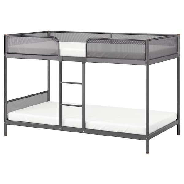 Tuffing Dark Grey Bunk Bed Frame 90x200 Cm Ikea
