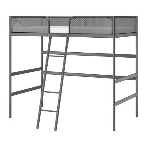 Tuffing Loft Bed Frame Dark Grey 90 X 200 Cm Ikea
