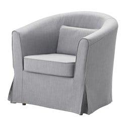 tullsta armchair cover nordvalla medium grey ikea. Black Bedroom Furniture Sets. Home Design Ideas