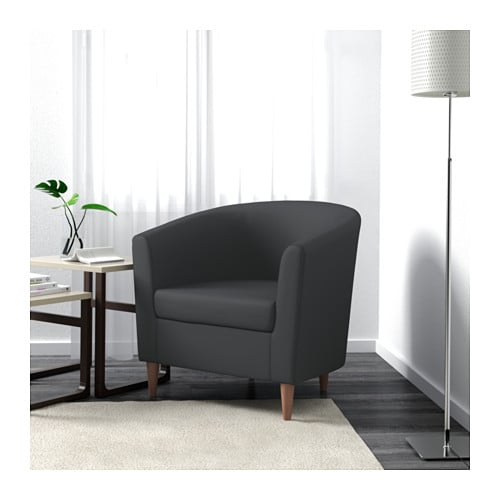 Tullsta armchair ransta dark grey ikea for Ikea tullsta