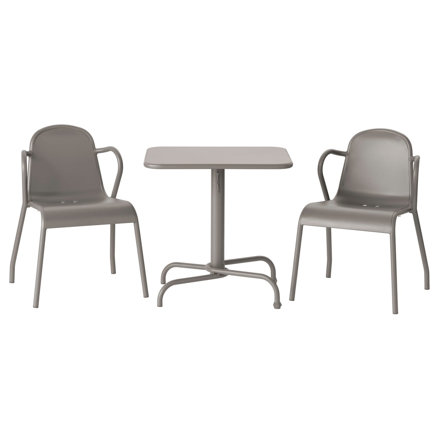 IKEA TUNHOLMEN table+2 chairs, outdoor Can be stacked, which helps you save space.