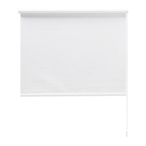 TUPPLUR Roller blind IKEA Black out blind; special coating that does not let any light through.