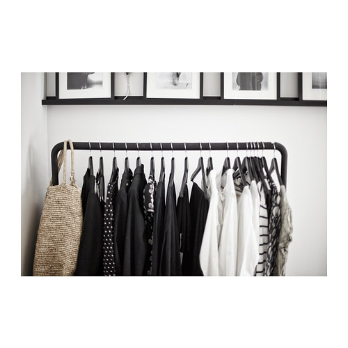 TURBO Clothes rack, in outdoor Black 117×59 cm IKEA