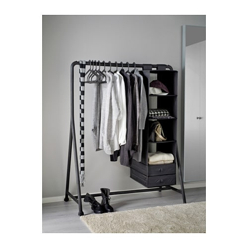 Turbo clothes rack in outdoor black 117x59 cm ikea - Ikea portant vetement ...
