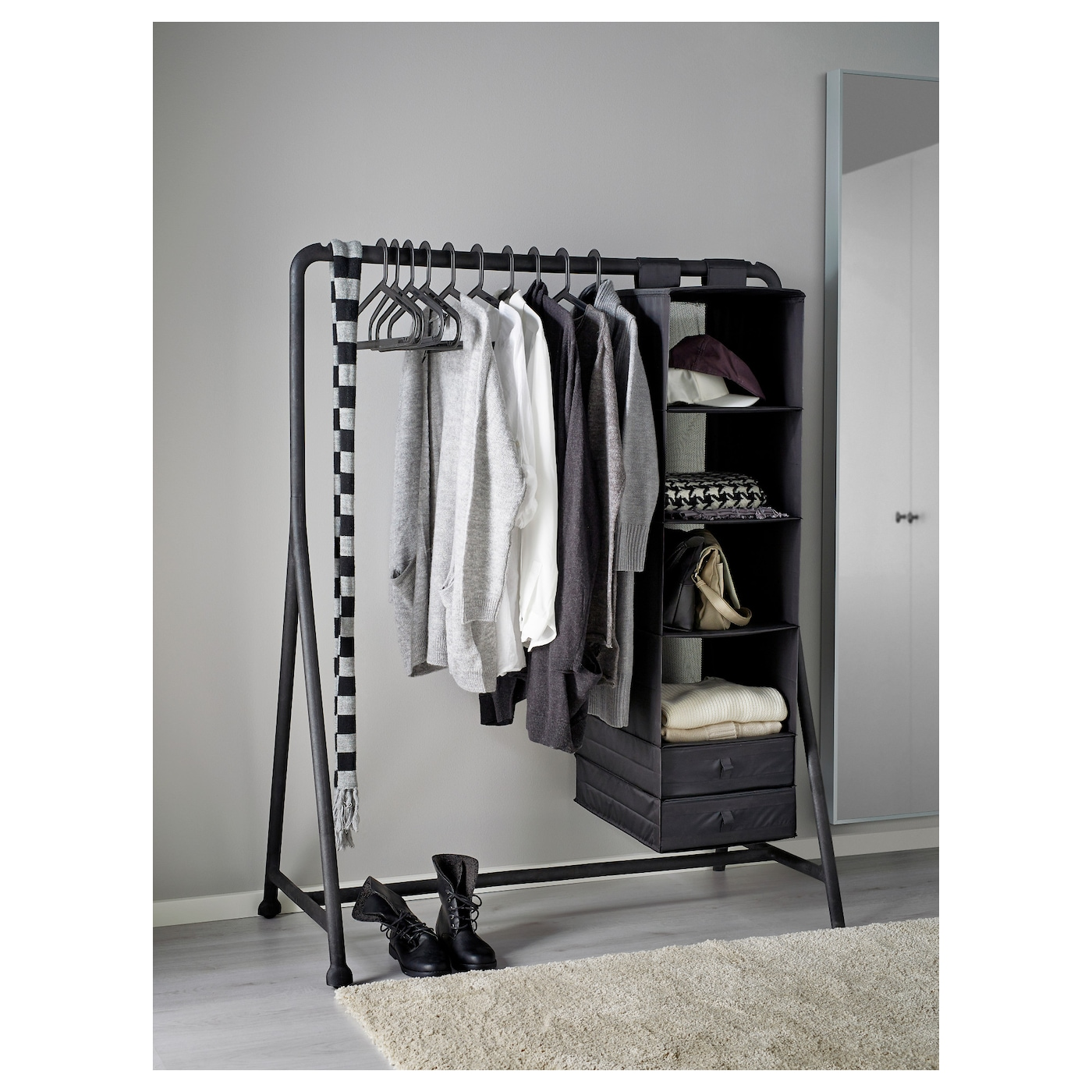 Clothes Rack: TURBO Clothes Rack, In/outdoor Black 117 X 59 Cm