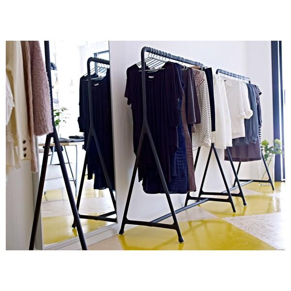 TURBO clothes rack, in/outdoor black 117 cm 59 cm 148 cm 15 kg