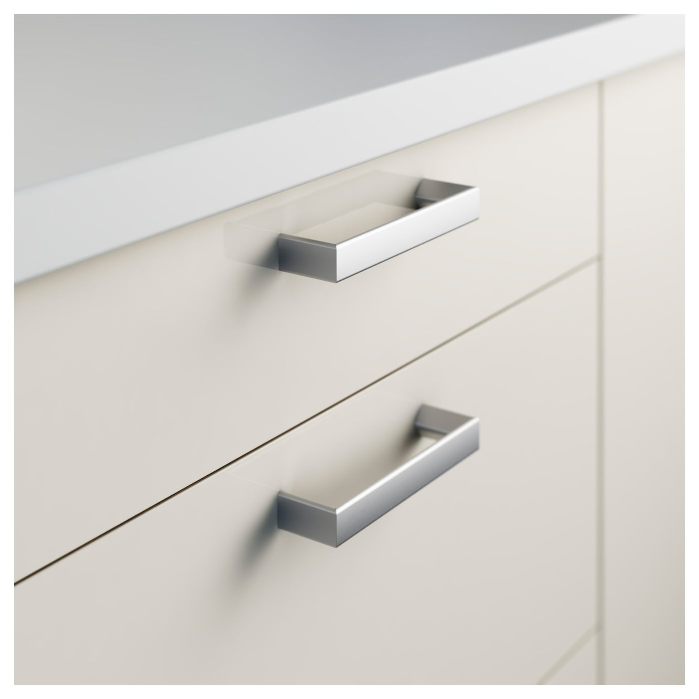 Tyda handle stainless steel 138 mm ikea - Kitchen cabinets with handles ...