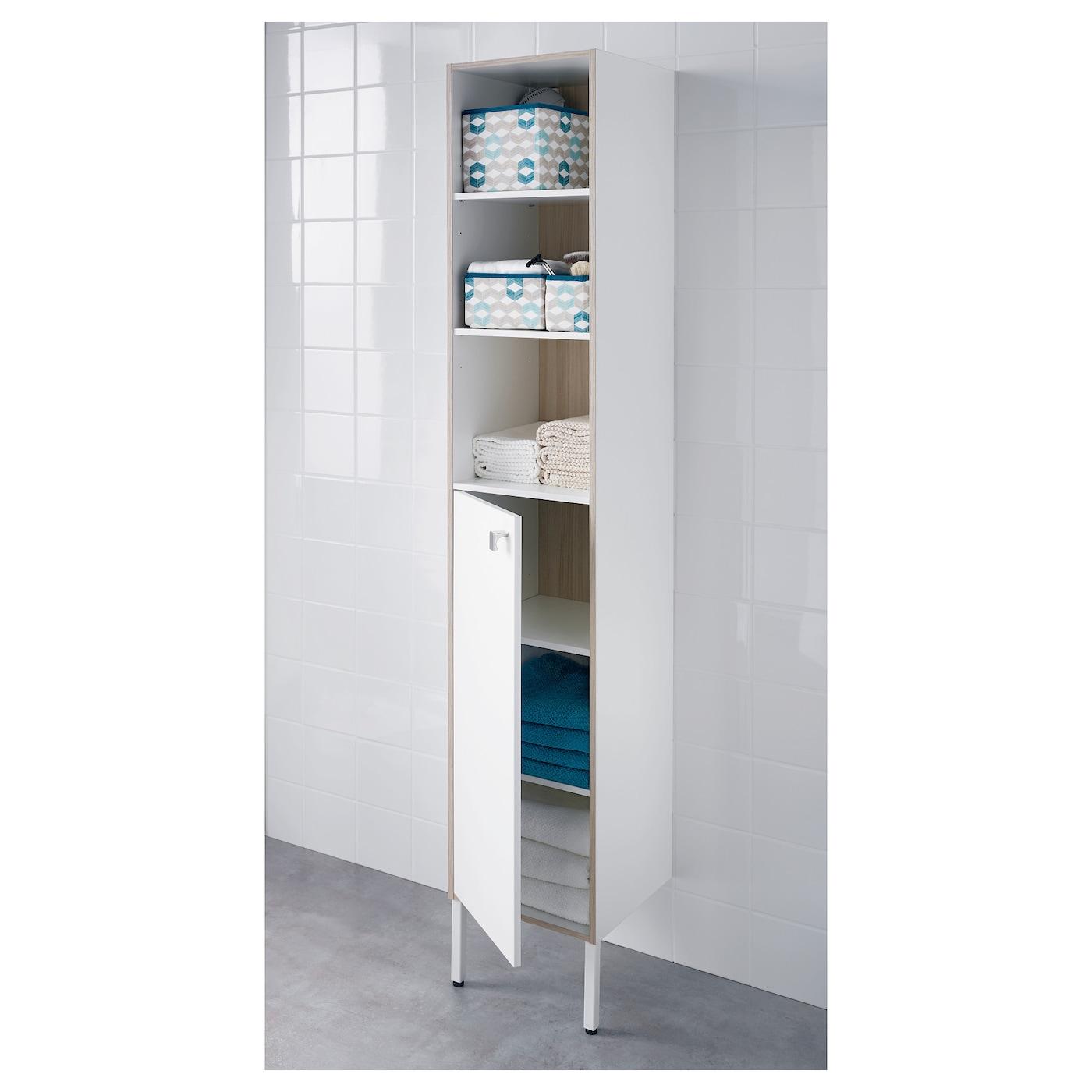 tyngen high cabinet white ash effect 30x29x177 cm ikea