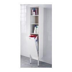 Tyngen laundry cabinet white ash effect 30x29x177 cm ikea for Armoire lingere ikea