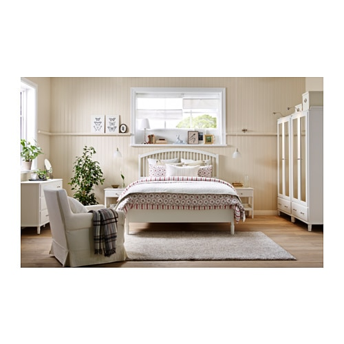 tyssedal bed frame white lur y standard double ikea. Black Bedroom Furniture Sets. Home Design Ideas