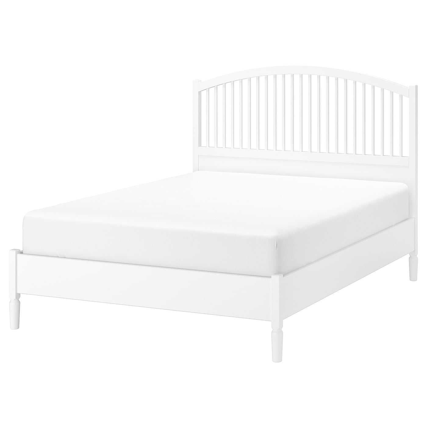 IKEA TYSSEDAL bed frame Adjustable bed sides allow you to use mattresses of different thicknesses.