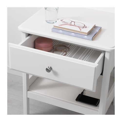 Ikea hemnes bedside table smooth running drawer with pull out stop - Ikea Tyssedal Bedside Table Smooth Running Drawer With Pull Out Stop