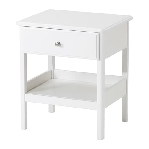 Tyssedal bedside table white 51x40 cm ikea for Mini table de chevet