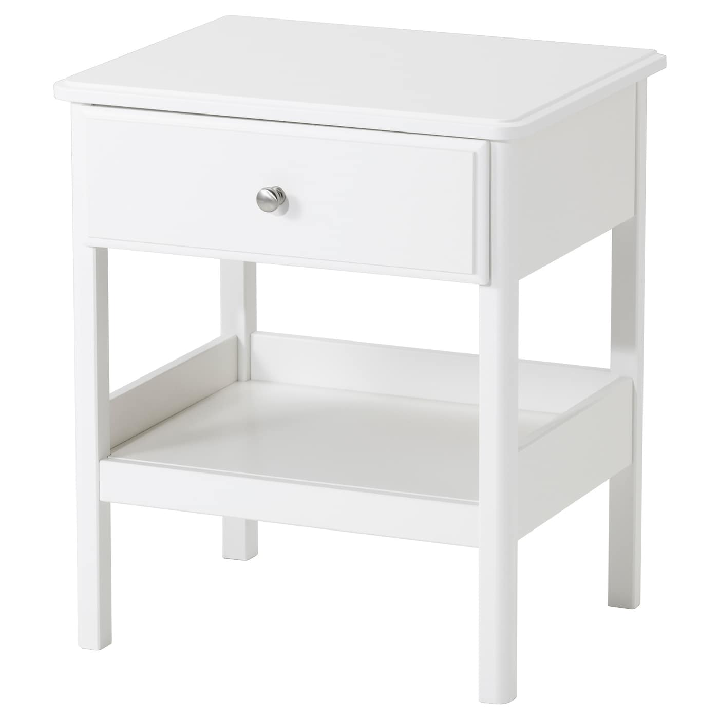Tyssedal bedside table white 51x40 cm ikea for Mesitas de noche hemnes
