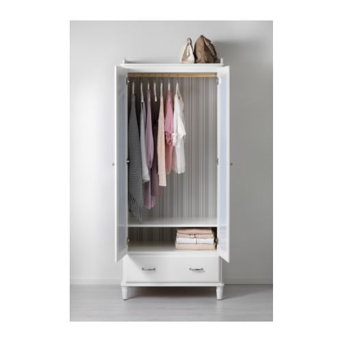 TYSSEDAL Wardrobe White mirror glass 88x58x208 cm  IKEA