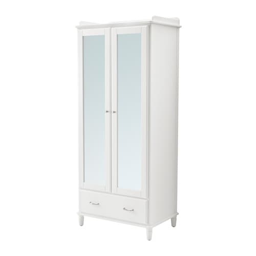 tyssedal wardrobe white mirror glass 88x58x208 cm ikea. Black Bedroom Furniture Sets. Home Design Ideas