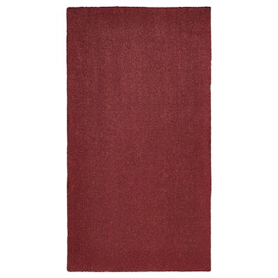 TYVELSE Rug, low pile, dark red, 80x150 cm