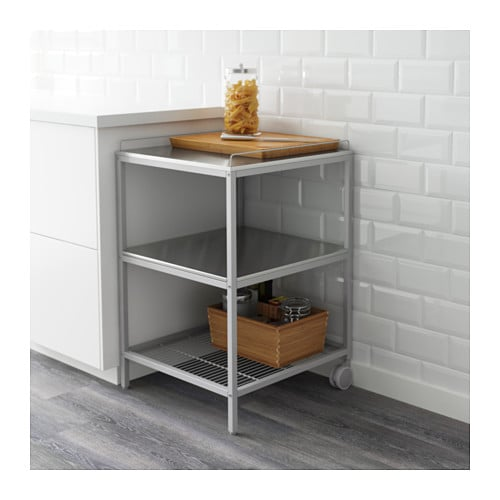 udden kitchen trolley silver colour stainless steel 54x54. Black Bedroom Furniture Sets. Home Design Ideas