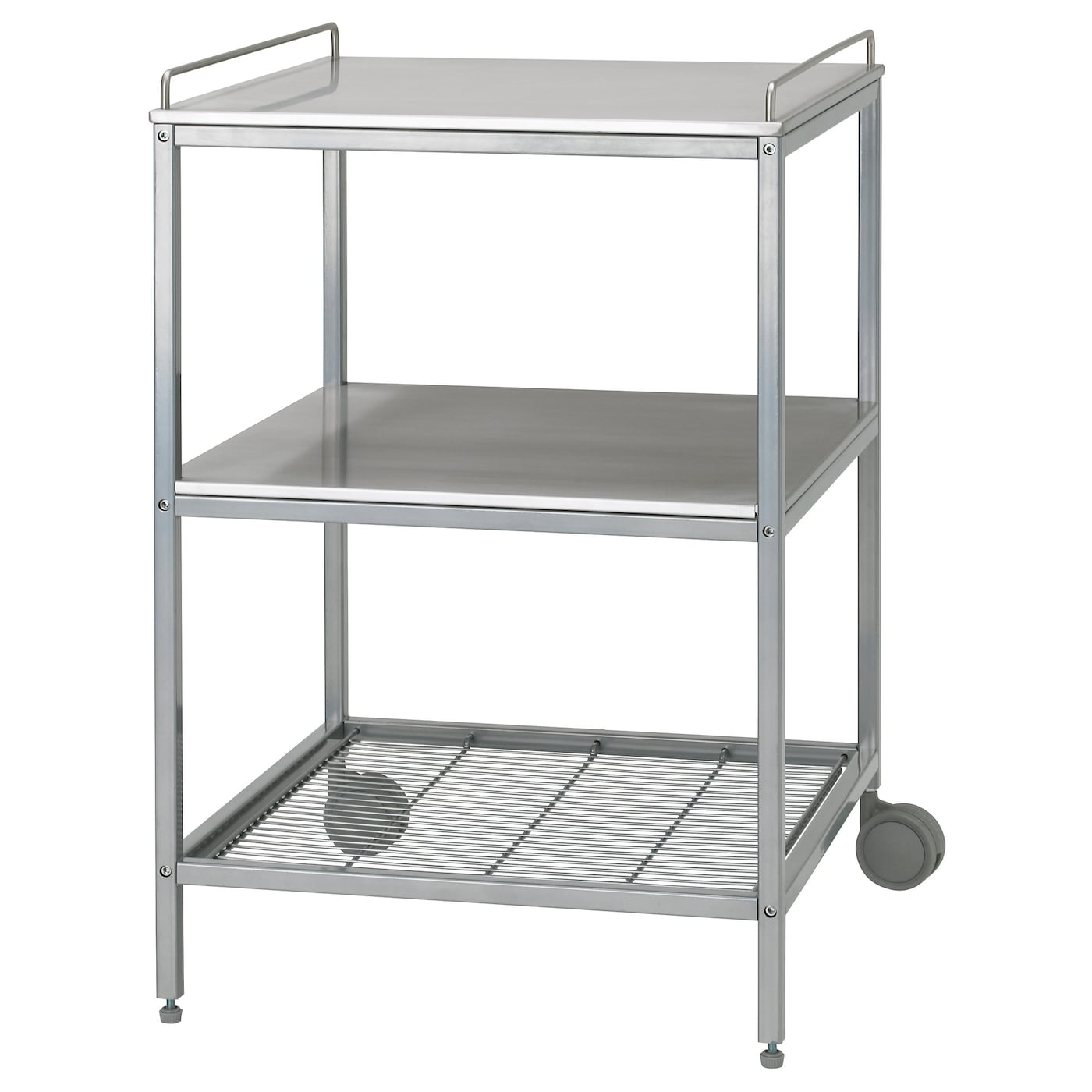 udden kitchen trolley silver colour stainless steel 54x54 cm ikea