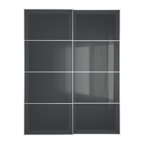 Uggdal pair of sliding doors 150x201 cm ikea - Meuble cuisine porte coulissante ikea ...
