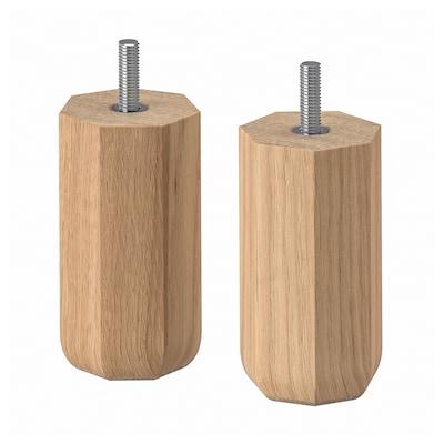 ULLARP Leg, oak, 10 cm