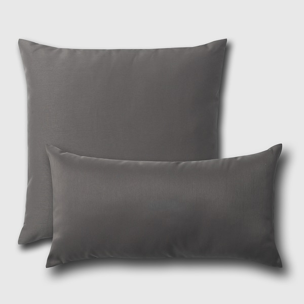 ULLKAKTUS Cushion, dark grey, 30x58 cm