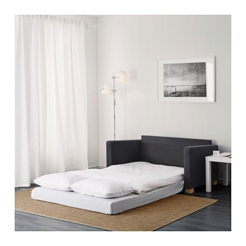 Ullvi Two Seat Sofa Bed Ransta Dark Grey Ikea