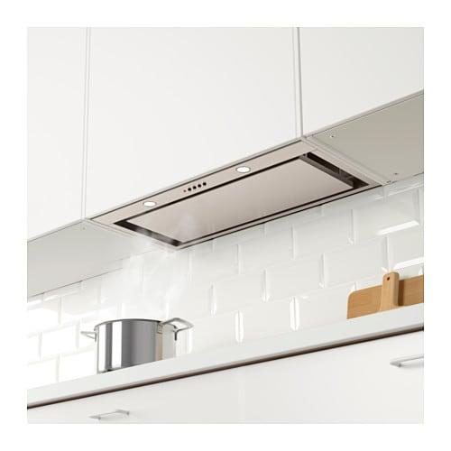 underverk built in extractor hood stainless steel 76 cm ikea. Black Bedroom Furniture Sets. Home Design Ideas
