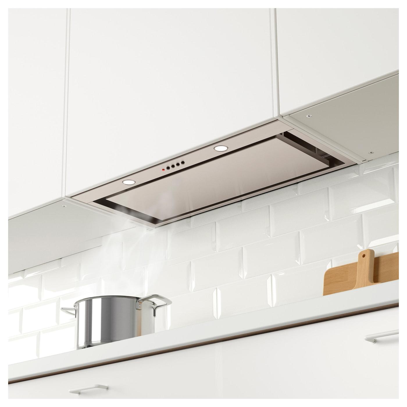 Underverk built in extractor hood stainless steel 76 cm ikea for Ikea kitchen hood