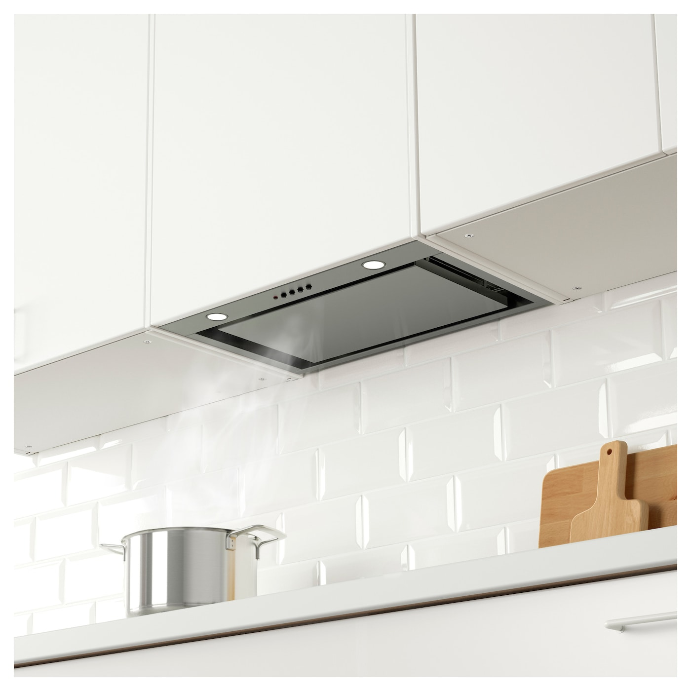 Good IKEA UNDERVERK Built In Extractor Hood Easy To Install In A Wall Cabinet.